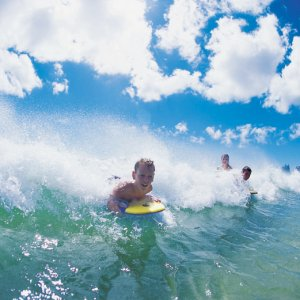 surfing in Broadbeach